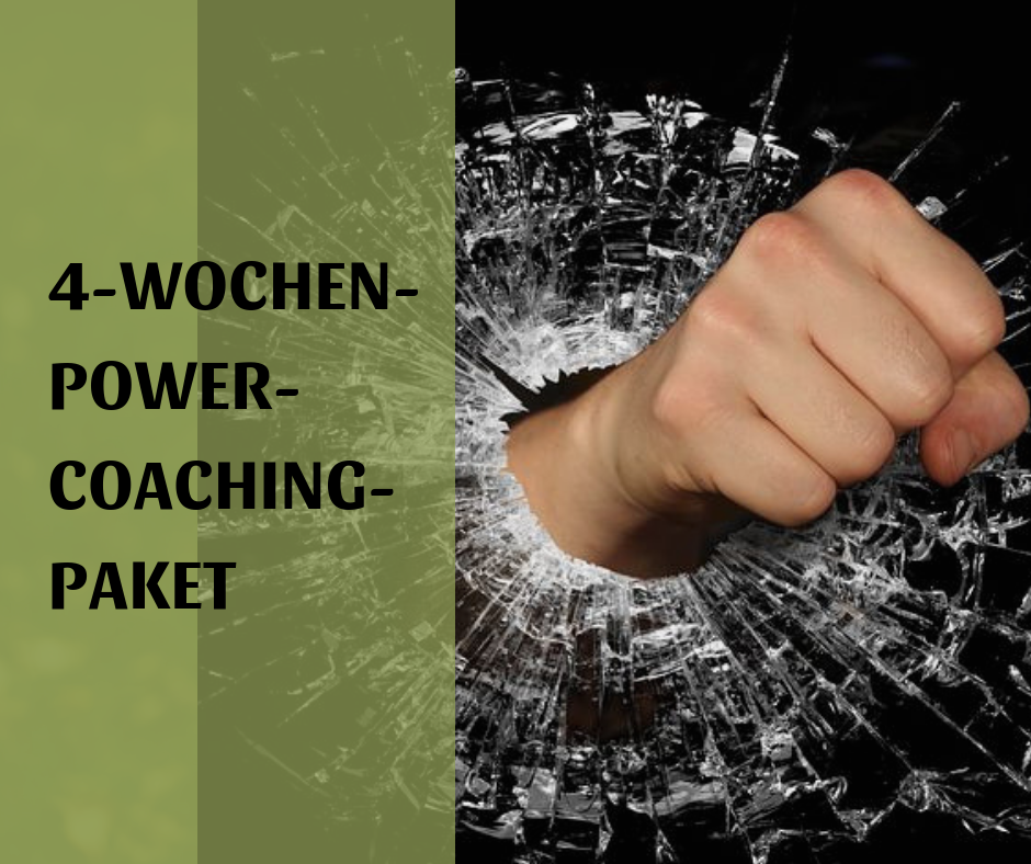4 Wochen. Power Coaching Paket